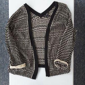 Medium Lucky Brand open knit dolman cardigan